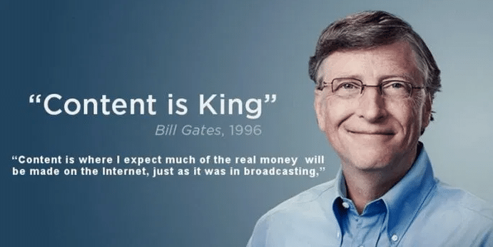 content is king bill gate